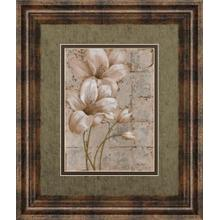 """Lilies On Silver I"" By Vivian Flasch Framed Print Wall Art"