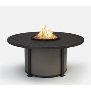"54"" Round Chat Fire Pit Ht: 24.5"" Valero Aluminum Base (Indicate Top/Frame & Side Panel Color)"