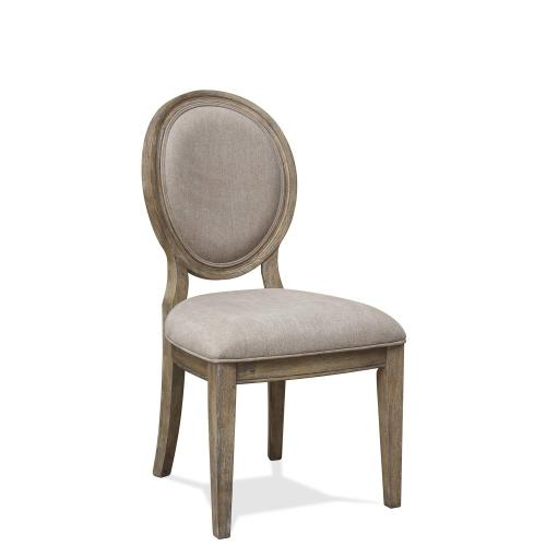 Sonora - Upholstered Oval Side Chair - Snowy Desert Finish
