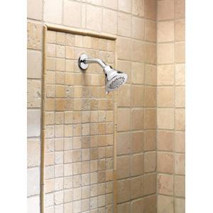 "Envi chrome three-function 4"" diameter spray head eco-performance showerhead"