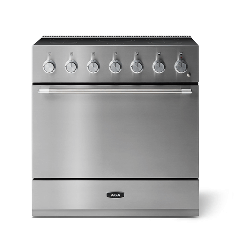 """Gallery - Aga Mercury 36"""" Induction Model, Stainless Steel"""