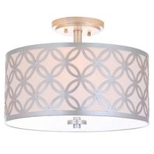 See Details - Cecily 3 Light 15-inch Dia Silver Flush Mount - Silver