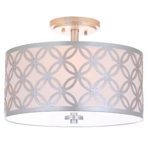 Cecily 3 Light 15-inch Dia Silver Flush Mount - Silver