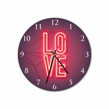 Love Neon Round Acrylic Wall Clock