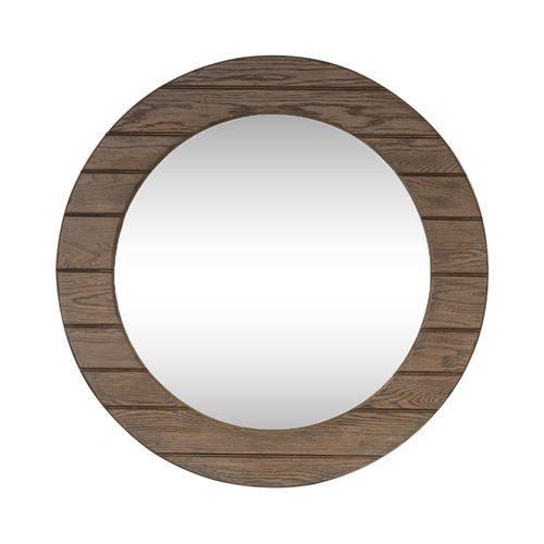 Round Mirror - Brown