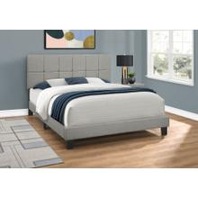 See Details - BED - QUEEN SIZE / GREY LINEN