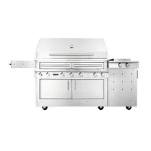 See Details - K1000 Freestanding Hybrid Fire Grill with Side Burner
