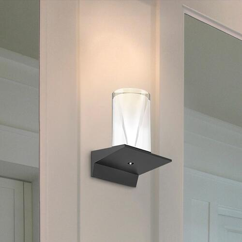 "Sonneman - A Way of Light - Votives LED Sconce [Color/Finish=Bright Satin Aluminum, Shade Size=.25"" height x 2.25"" diameter]"