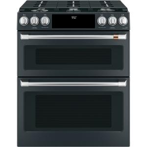 "Cafe30"" Smart Slide-In, Front-Control, Dual-Fuel, Double-Oven Range with Convection"