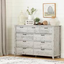 9-Drawer Storage Dresser - Rustic Style - Seaside Pine
