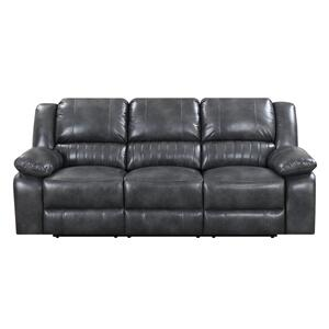 Emerald Home Furnishings - Navaro Grey Reclining Sofa