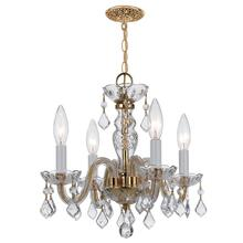 See Details - Traditional Crystal 4 Light Clear Swarovski Strass Crystal Brass Mini Chandelier