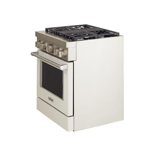 KitchenAid® 30'' Smart Commercial-Style Dual Fuel Range with 4 Burners - Milkshake