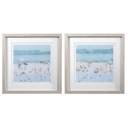 Product Image - Sea Glass Sandbar Framed Prints, S/2
