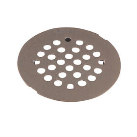 "Moen Oil Rubbed Bronze 4-1/4"" Snap-In Shower Drain Cover"