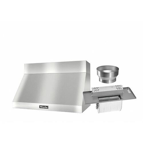 """DAR 1230 Set 6 Wall-Mounted Range Hood with Extraction Mode with integrated XL motor including 6"""" chimney cover."""
