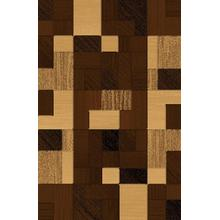 Durable Flat Weave No Shedding Lifestyle 485 Area Rug by Rug Factory Plus - 2' x 3' / Brown