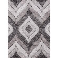 Sorrento 721 Shag Area Rug by Rug Factory Plus - 2' x 3' / Silver