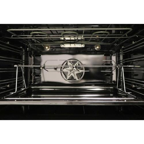 Ilve - Professional Plus 40 Inch Dual Fuel Natural Gas Freestanding Range in Matte Graphite with Chrome Trim