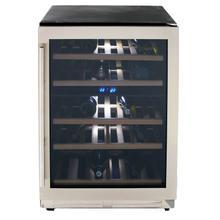 See Details - 43 Bottle DESIGNER Series Dual-Zone Wine Cooler
