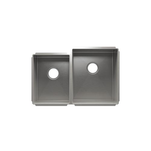 """J7® 003984 - undermount stainless steel Kitchen sink , 12"""" × 16"""" × 8""""  15"""" × 18"""" × 10"""""""
