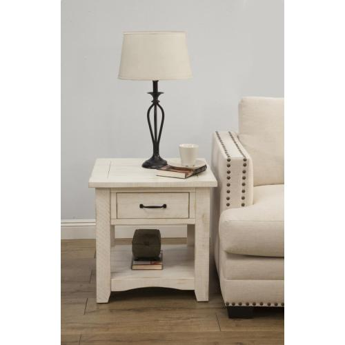 END TABLE - Antique White