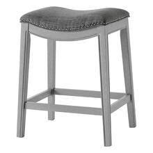 Grover KD Fabric Counter Stool Ash Gray Frame, Lyon Dark Gray