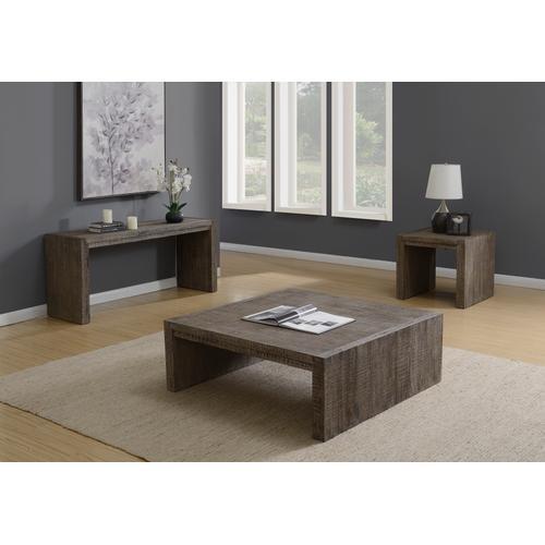 Cubix Square End Table, Tobacco Brown T273-01