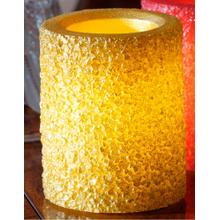 "4"" Gold Ember LED Candle"