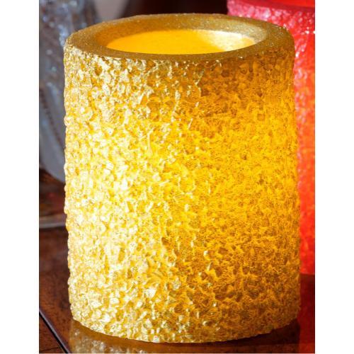 "4"" Gold Ember LED Candle"