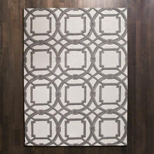Arabesque Rug-Grey/Ivory-6 x 9