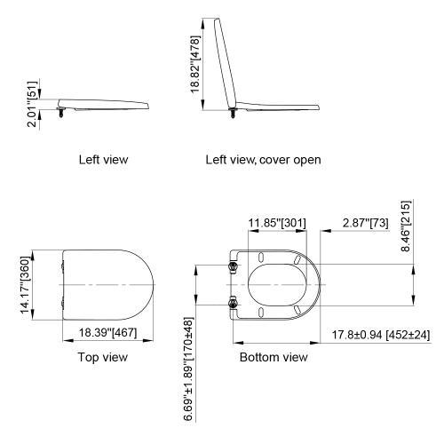 Axent Bath - Dune II Slow Close Toilet Seat G110-0111-U1  AXENT