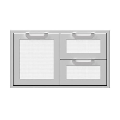 """Hestan - 36"""" Hestan Outdoor Combo Door/Drawer - AGSDR Series - Froth"""