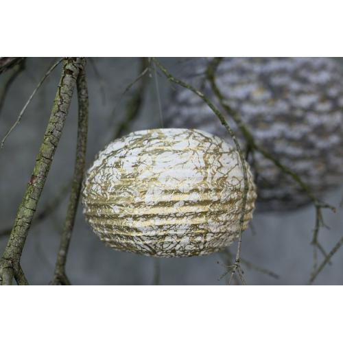 9.5'' x 5'' Gold Carouse Paper Lantern