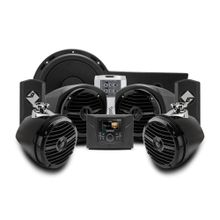 400 watt stereo, front lower speaker, rear speaker, and subwoofer kit for select Polaris GENERAL® models