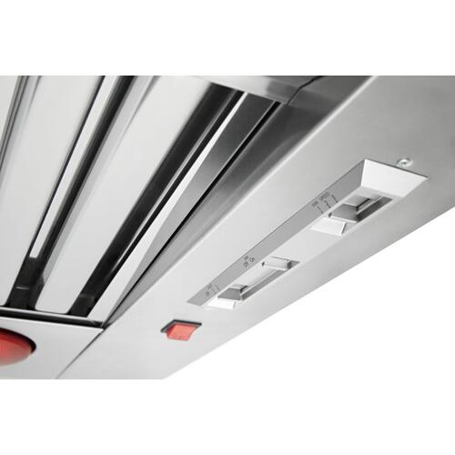 "36"" 585-1170 CFM Motor Class Commercial-Style Wall-Mount Canopy Range Hood - Stainless Steel"