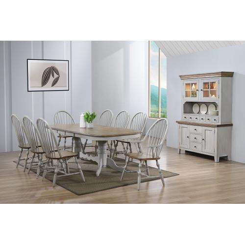 Double Pedestal Extendable Dining Table Set - Country Grove (10 Piece)