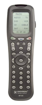 URC-RF30 Handheld Wand-style, Learning Remote Control