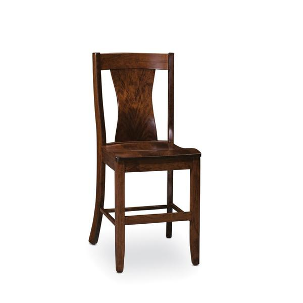 Joseph Stationary Barstool, Fabric Cushion Seat