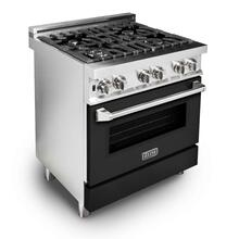ZLINE 30 in. Professional Dual Fuel Range with Black Matte Door (RA-BLM-30)