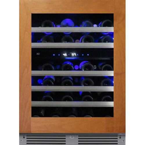 24in Wine Cellar 2 Zone Overlay Glass RH