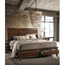 See Details - Concord Cherry Finish solid wood Storage QUEEN & KING Platform Bed, King