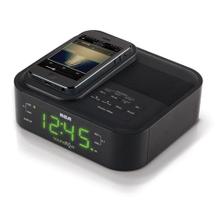 Soundflow wireless dock with clock radio