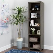 Hopedale - Narrow 6-Shelf Bookcase, Gray Maple