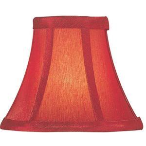 "Candelabra Shade/red Silk - 3""tx6""bx5""sh"