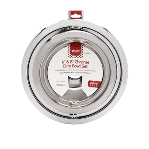 FrigidaireSmart Choice 6'' and 8'' Chrome Drip Bowl Set, Fits Specific