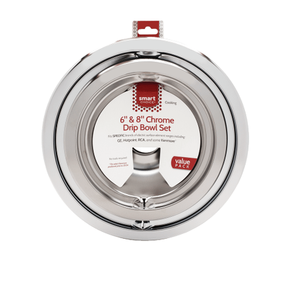 See Details - Smart Choice 6'' and 8'' Chrome Drip Bowl Set, Fits Specific