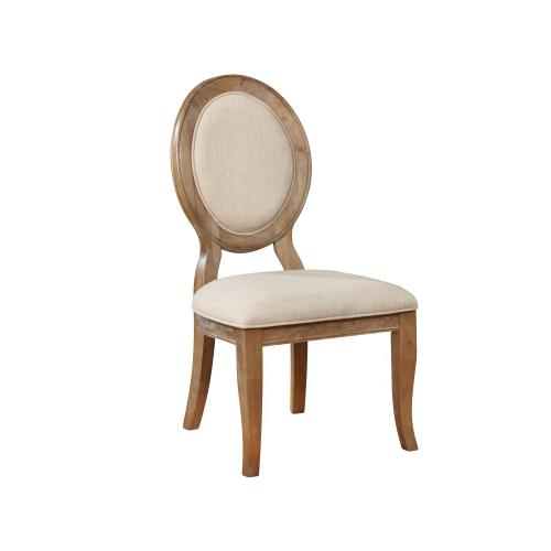 Upholstered Back and Seat Side Chairs, Brown (set of 2)