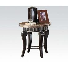 See Details - Brown Marble Top End Table