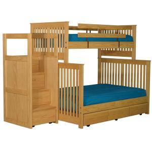 Bunkbed, Twin XL over Queen with Staircase